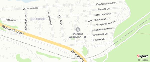 Улица Дорожная (Исаково) на карте Челябинска с номерами домов
