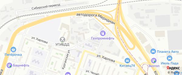 Улица Луценко на карте Челябинска с номерами домов
