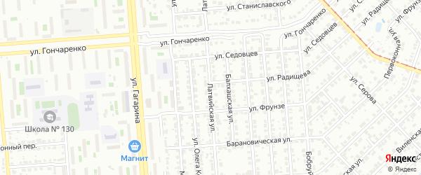 Латвийская улица на карте Челябинска с номерами домов