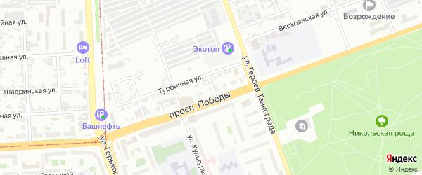 Улица Отдыха на карте Челябинска с номерами домов