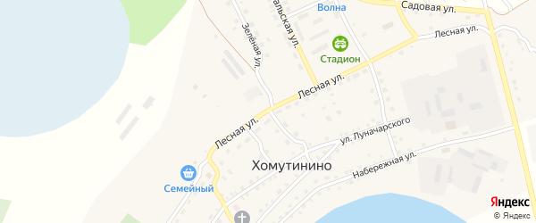 Лесная улица на карте села Хомутинино с номерами домов