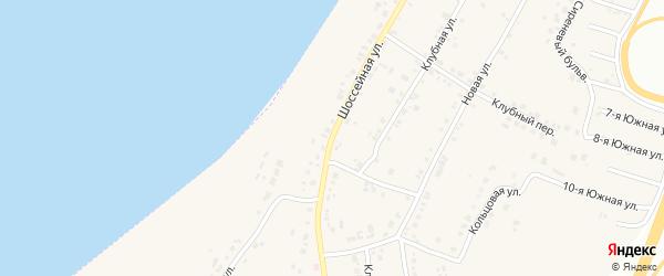 Шоссейная улица на карте села Синеглазово с номерами домов