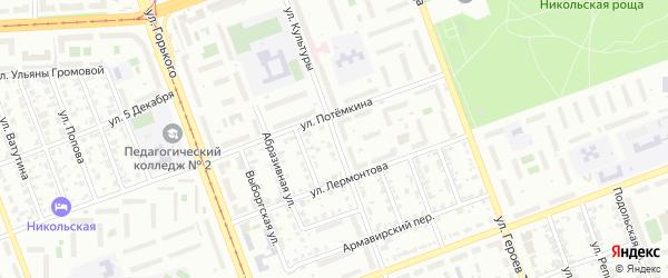 Улица Культуры на карте Челябинска с номерами домов