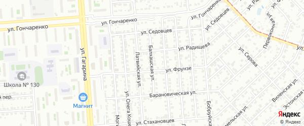 Балхашская улица на карте Челябинска с номерами домов