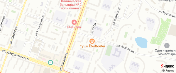 Улица Агалакова на карте Челябинска с номерами домов