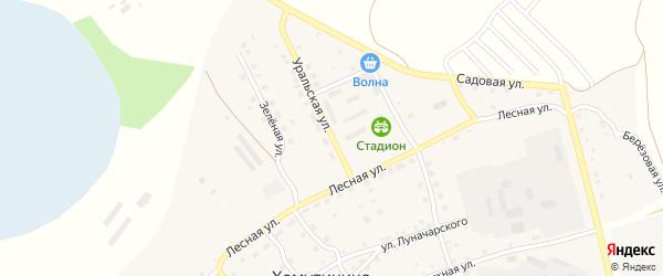 Уральская улица на карте села Хомутинино с номерами домов