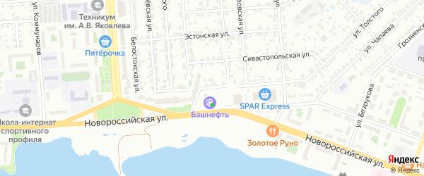 Улица Толстого на карте Челябинска с номерами домов
