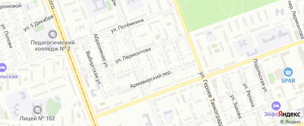 Генераторный переулок на карте Челябинска с номерами домов