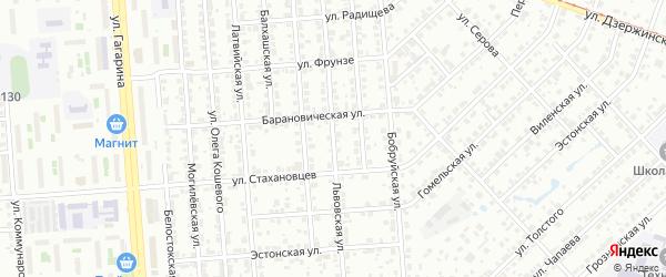 Львовская улица на карте Челябинска с номерами домов