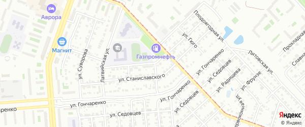 Улица Баталова на карте Челябинска с номерами домов