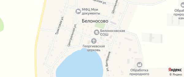 Советская улица на карте поселка Белоносово с номерами домов