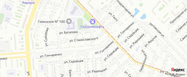 Улица Станиславского на карте Копейска с номерами домов