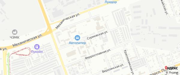 Сормовская улица на карте Челябинска с номерами домов
