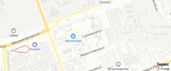 Сормовская 3-я улица на карте Челябинска с номерами домов
