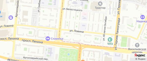 Улица Ловина на карте Челябинска с номерами домов