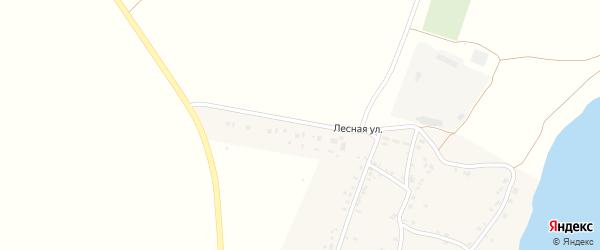 Лесная улица на карте поселка Бектыша с номерами домов