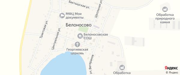 Улица Победы на карте поселка Белоносово с номерами домов