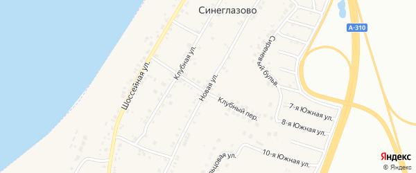 Новая улица на карте села Синеглазово с номерами домов