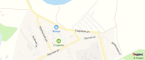 Садовая улица на карте села Хомутинино с номерами домов