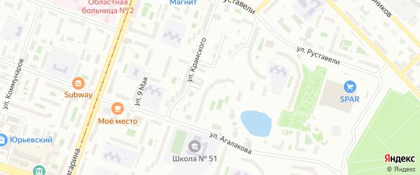 Территория ГСК 318 филиал по ул Агалакова 35 на карте Челябинска с номерами домов