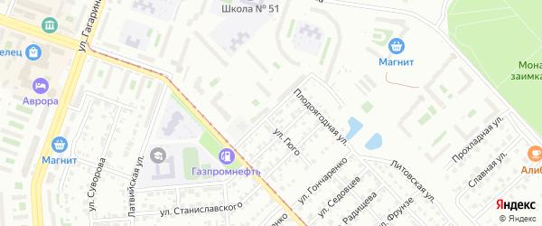 Улица Многостаночников на карте Челябинска с номерами домов