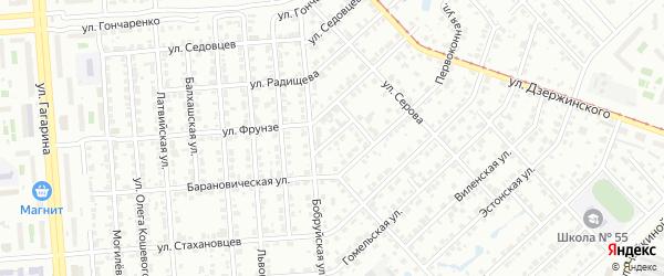 Рыночный переулок на карте Челябинска с номерами домов