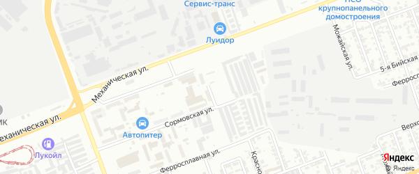 Краснокамский переулок на карте Челябинска с номерами домов