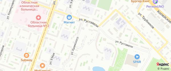 Тюменская улица на карте Челябинска с номерами домов