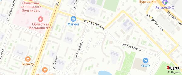 Тюменская улица на карте Копейска с номерами домов