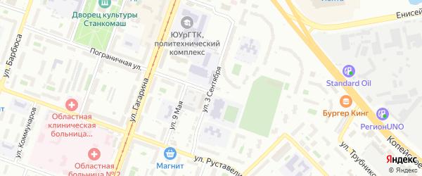 Сад СНТ Авиатор-2 улица 3 на карте Челябинска с номерами домов