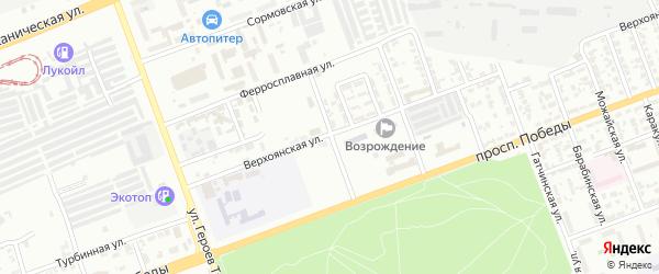 Ужгородская улица на карте Челябинска с номерами домов