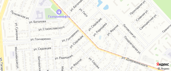 Улица Дзержинского на карте Челябинска с номерами домов