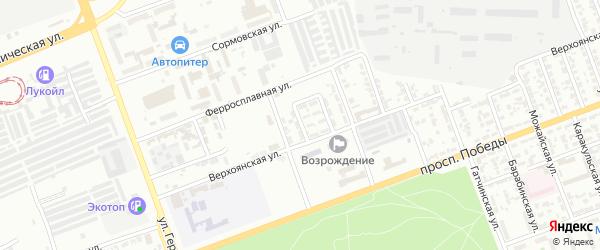 Верхоянский 4-й переулок на карте Челябинска с номерами домов