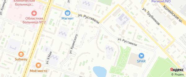 Саратовская улица на карте Челябинска с номерами домов