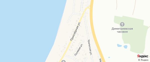 Приозерная улица на карте Копейска с номерами домов