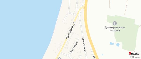 Приозерная улица на карте села Синеглазово с номерами домов