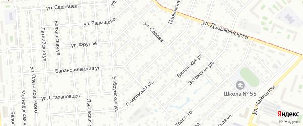 Харьковская улица на карте Челябинска с номерами домов