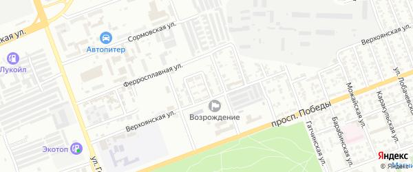 Верхоянский 3-й переулок на карте Челябинска с номерами домов