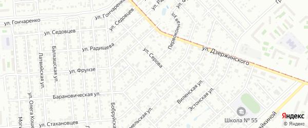 Первоконная улица на карте Челябинска с номерами домов