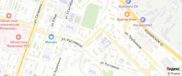 Переулок Энергетиков на карте Челябинска с номерами домов