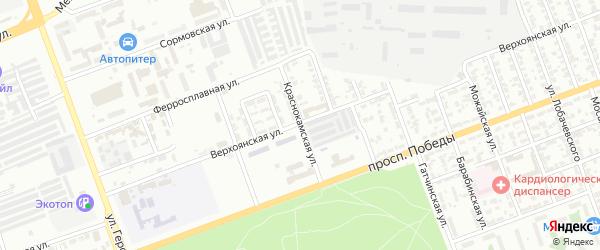 Краснокамская улица на карте Челябинска с номерами домов