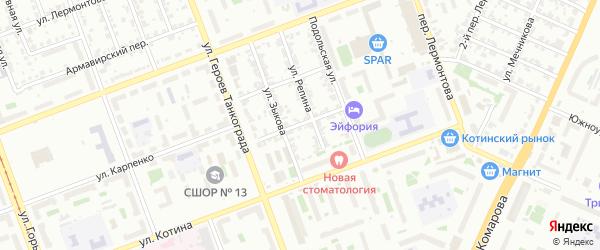 Алтайская улица на карте Челябинска с номерами домов