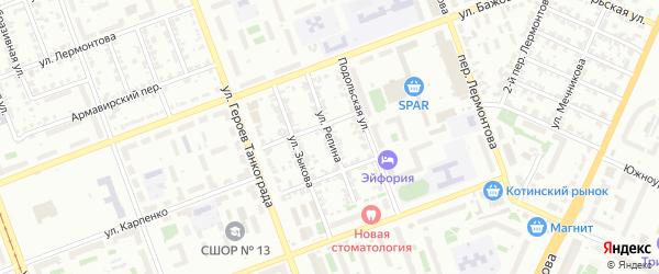 Улица Репина на карте Челябинска с номерами домов