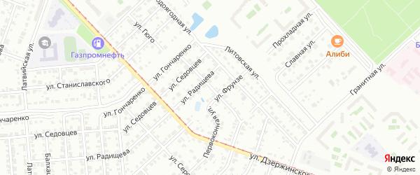 Улица Пархоменко на карте Челябинска с номерами домов
