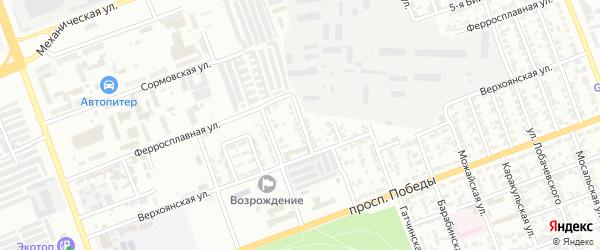 Верхоянский 2-й переулок на карте Челябинска с номерами домов