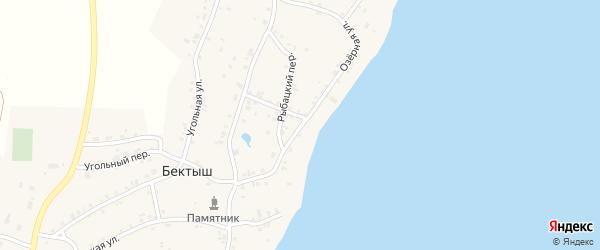 Озерная улица на карте поселка Бектыша с номерами домов