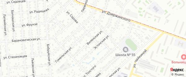 Виленская улица на карте Челябинска с номерами домов