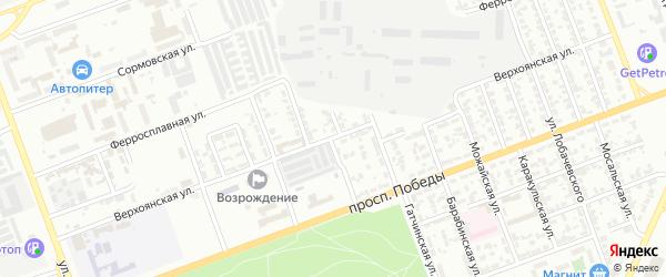 Верхоянская улица на карте Челябинска с номерами домов
