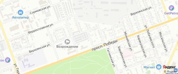 Верхоянский 1-й переулок на карте Челябинска с номерами домов