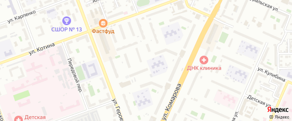 33-й микрорайон на карте Челябинска с номерами домов